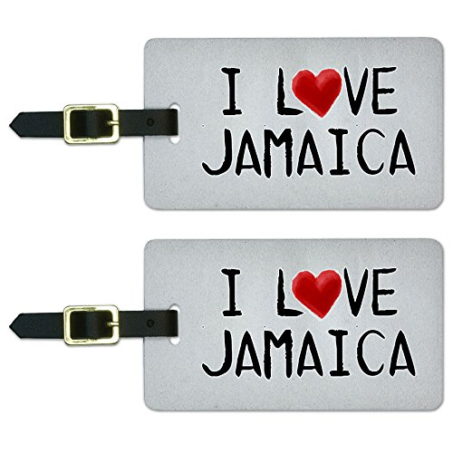 Jamaica Written Luggage Suitcase Carry