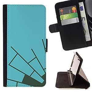 Momo Phone Case / Flip Funda de Cuero Case Cover - Azul Gris Telaraña minimalista - Apple Iphone 4 / 4S