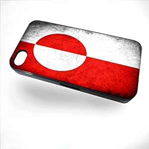 Case for iPhone 4/4S with Flag of Greenland - Rustic