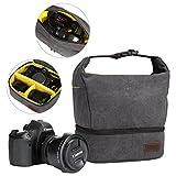 S-ZONE Waterproof Canvas Camera Bag Messenger Shoulder Bag with Handle for Mirrorless Micro 4/3 SLR/DSLR/Digital Camera
