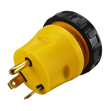 Generator Adapter RV 30Amp TT-30P to L5-30R 30Amp 3-Prong ... on 3 prong dryer cord adapter, 3 prong electric plug wiring, home generator plug wiring, 30 amp generator plug wiring,