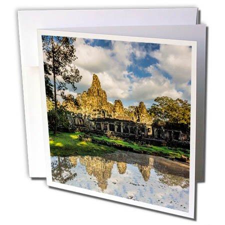 3dRose Danita Delimont - Travel - Cambodia, Angkor wat, Siem Reap, Angkor Wat reflection. - 12 Greeting Cards with envelopes (gc_277085_2)