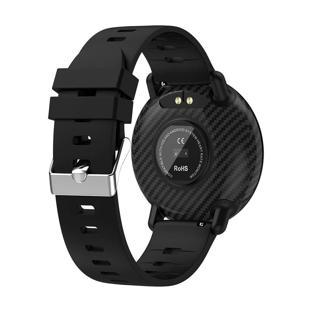 YNAA for Android iOS, Sport Smart Watch, Fitness Calorie Blood Pressure Heart Rate Monitor, Remote Photography Smart Bracelet (Black) by YNAA (Image #4)