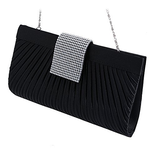 SCASTOE Shimmering Crystal Evening Bag Women Wedding Party Clutch Chain Bag