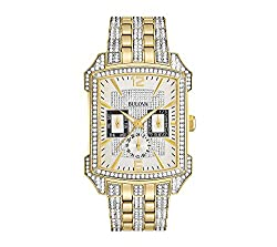 Men's Crystal Two-Tone Stainless Steel Watch