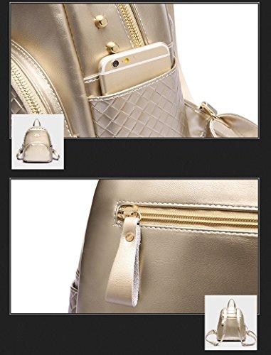 cuir dos sac Femmes capacité sac à grande souple à bandoulière Beige Sac dos à multifonction en HaqTUISqA