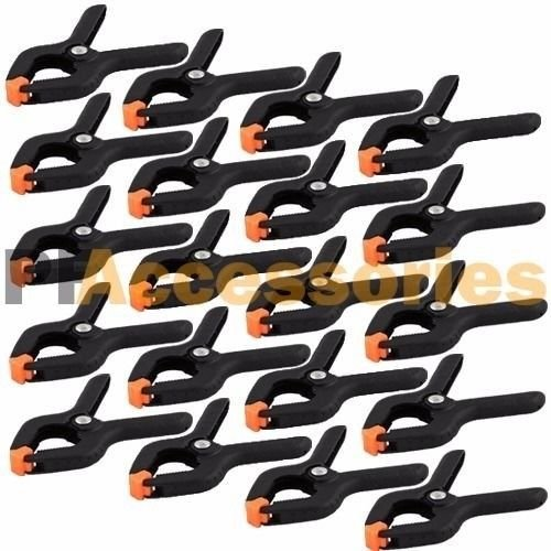 "20 Pcs 2.7"" inch Mini Plastic Spring Clamps Tips Tool Clip 1"" Jaw Opening from Unknown"