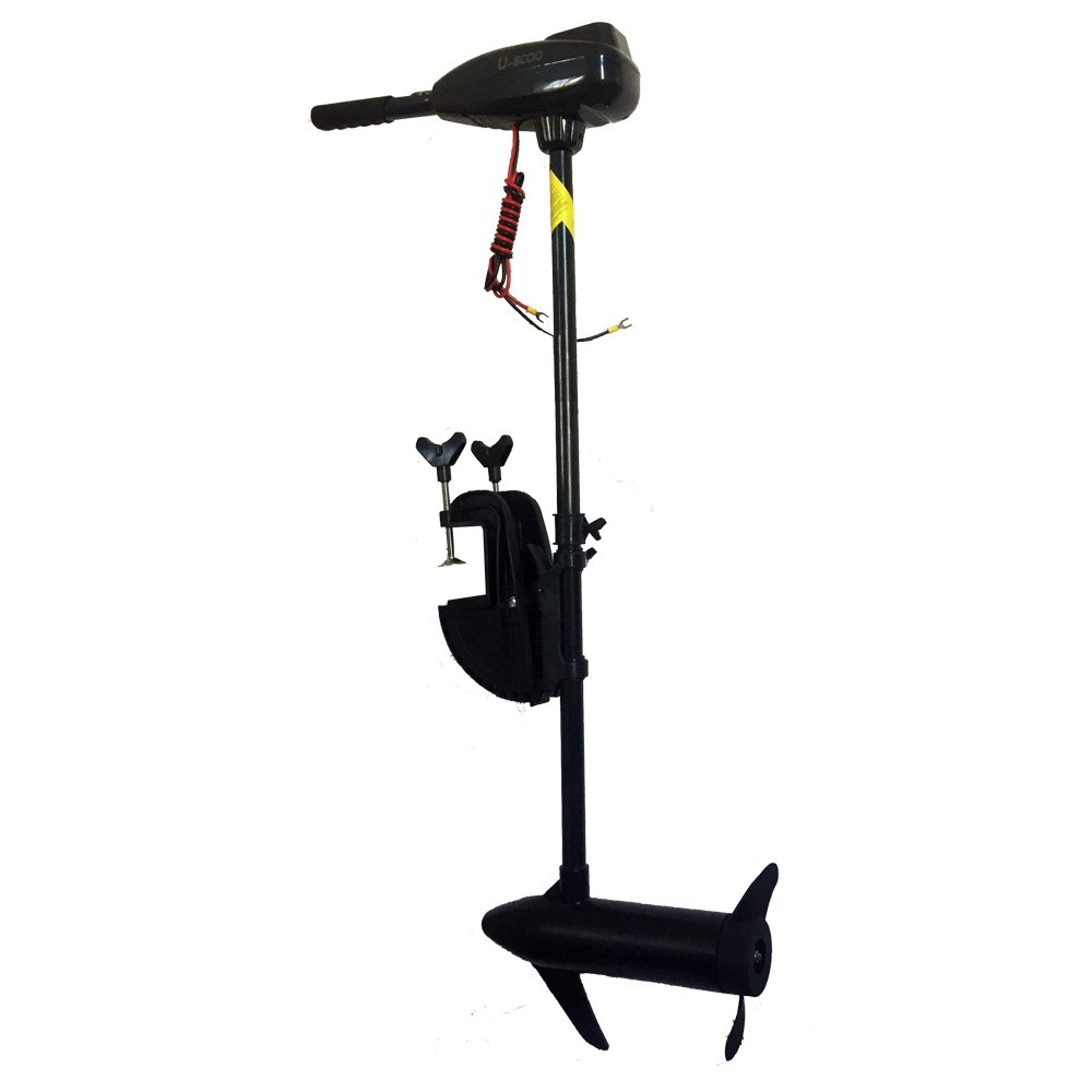 U-BCOO 8 Speed Saltwater Transom Mounted Electric Trolling Motor Fishing Boat Outboard Motor Kayak (L-12V-46lbs) by U-BCOO
