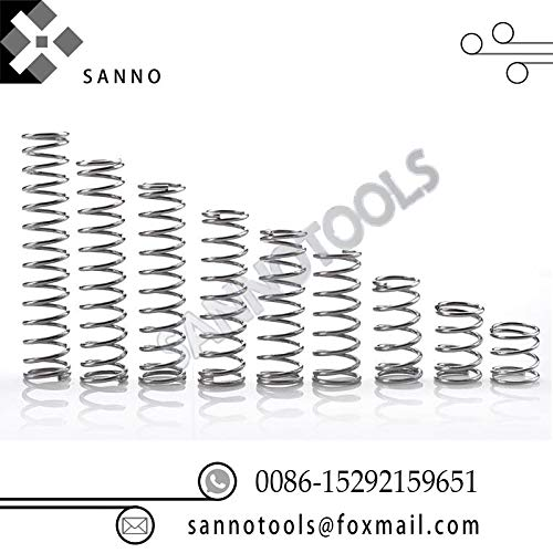 FINCOS Small Pressure Spring Metal Spiral Coil Binding Y Type pul-Out Piece Spring Wire O Ring Diameter 0.2mm-2mm can be Customized - (Color: 0.4mm)