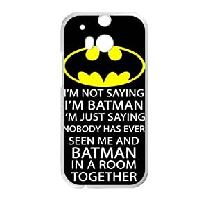 DAZHAHUI Batman logo i'm batman Phone Case for HTC One M8