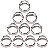 BQLZR Stainless Steel Beer Ring Bottle Opener Pack of 10 Size 22mm