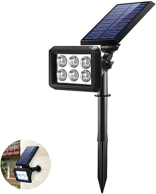 Lámparas Solar, IP64 A Prueba de Agua Focos LED Exterior Solares, 2 Inteligente Modos, Auto On/Off Luces Solares de Pared, Luz Solar Jardin Para Jardín para Patio, Puerta, Garaje, Acera: Amazon.es: Iluminación