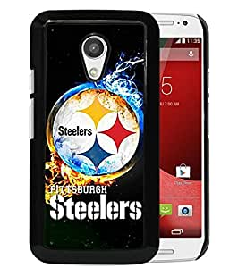 Popular Custom Designed Cover Case With Pittsburgh Steelers 2 Black For Motorola Moto G 2nd Generation Phone Case