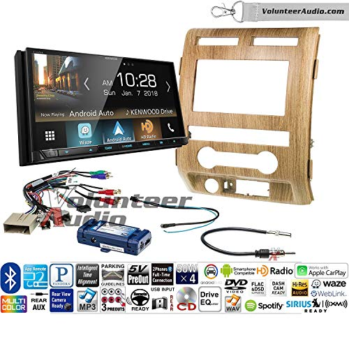 Volunteer Audio Kenwood Excelon Ddx8905s Double Din Radio Install Kit With Apple Carplay Android Auto Bluetooth Touchscreen Fits 2009 2010 Ford F 150 Ash Satin