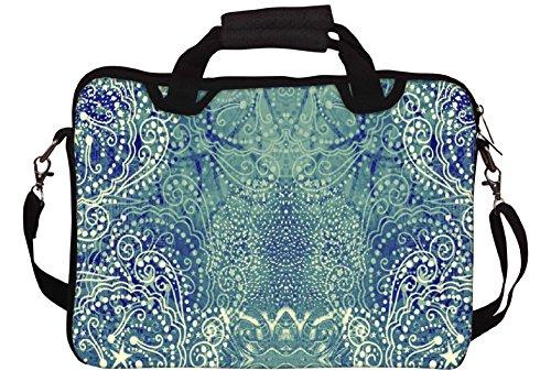 Snoogg Paisley Formation Gedruckt Notebook-Tasche mit Schultergurt 15 bis 15,6 Zoll