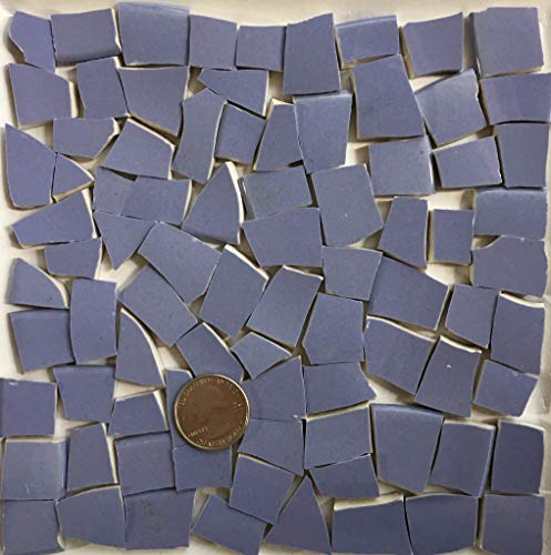 Broken China Mosaic Tile Art Supply for Crafts ~ Lavender Purple Tiles (T#A307)