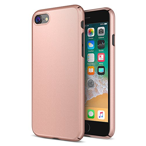Maxboost iPhone 8 Case, mSnap Series for Apple iPhone 8 (2017) / iPhone7 [Rose Gold] Extreme Smooth Surface [Scratch Resistant] Matte Coating for Grip Thin Hard Protective PC Cover