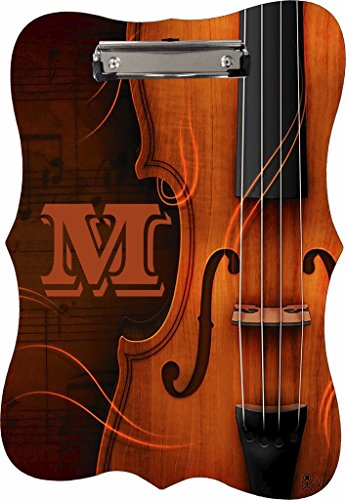 Antique Violin - Rosie Parker Inc. TM - CUSTOM Benelux Shaped 2-Sided Hardboard Clipboard - Customize Now!
