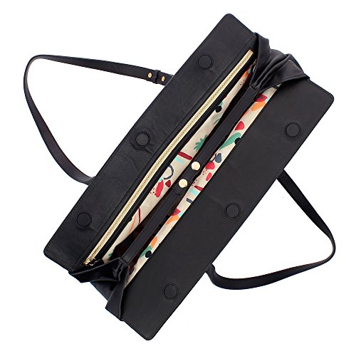 magnétique Noir bandoulière cuir Sac ajustables Élégant DUDU avec en pour capacité femme souple grande fermeture à poignées et HaSggqwxET
