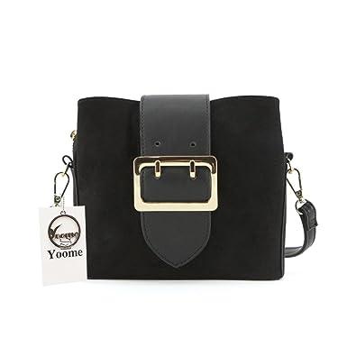 5c26a3cf0b50 Yoome Women Vintage Bucket Bags Crossbody Shoulder Bags with Pin Buckle Belt  Small Hobo Bags -