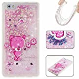 KSHOP Samsung Galaxy S7 Edge Case£¬Unique Design Fluid Liquid Floating Flowing Bling Shiny Quicksand Sparkle Glitter SMILE Design Crystal Clear Soft TPU Case Protective Shell Case Cover -Pink Bear