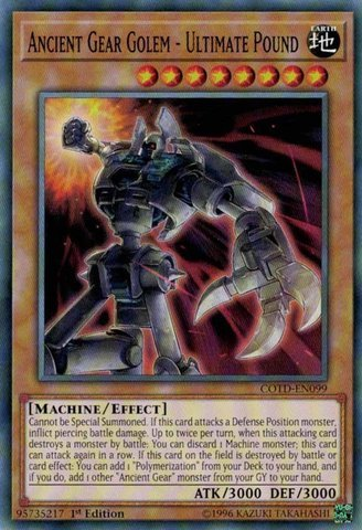 Ancient Gear - Ancient Gear Golem - Ultimate Pound - COTD-EN099 - Common - 1st Edition - Code of the Duelist (1st Edition)