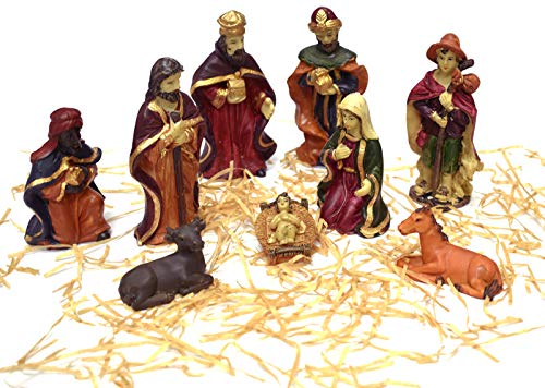 Asian Hobby Crafts 3 Kings Nativity Set (Box Size: 8.5 X7.5 Inches) – Pack of 9 Pcs