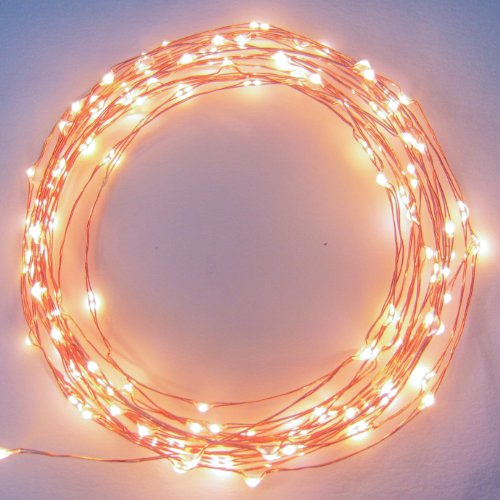 The Original Starry Starry Lights - Warm White Color on Copper Wire - 20ft LED String Light - Includes Power Adapter - 2nd Generation with 120 Individual LED's
