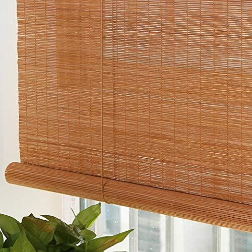 ロール カーテン プレミアムローラーブラインド バンブーロールアップシェード ドアウィンドウの場合、 屋内屋外デッキカーテン フックアップシリーズ 70%UVプロテクション (Size : 125×220cm)