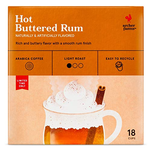 Archer Farms Hot Buttered Rum Medium Roast Coffee Single Serve Pod 18pods, pack of 1