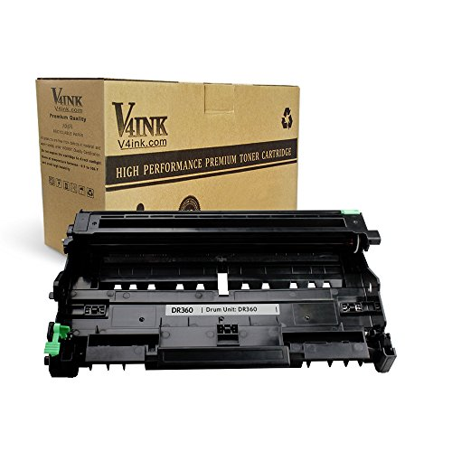 Yield Drum Unit (V4INK New Compatible Brother DR360 Drum Unit Use with Brother DCP-7030 DCP-7040 Printer Brother HL-2140 HL-2150N HL-2170W Printer Brother MFC-7340 MFC-7840W MFC-7440N MFC-7345N Printer)