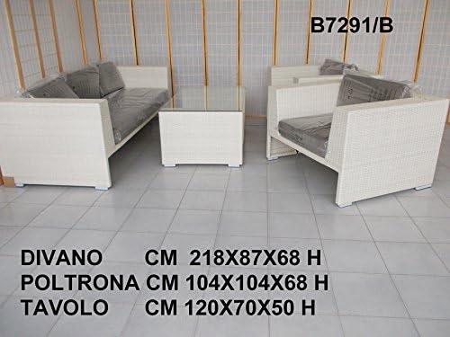 Salotto Rattan Sintetico Bianco.Fantasie D Oriente Salotto Rattan Sintetico Bianco Per Esterno