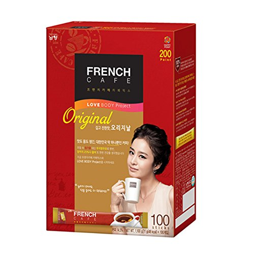 Premium French Cafe Original Instant Coffee Mix (100 Sticks) by Namyang