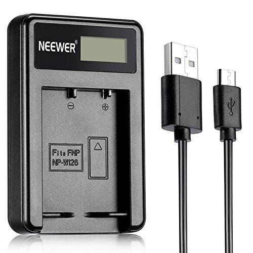 Neewer 10086524 USB Cargador de batería para Fujifilm y Fuji Finepix, negro, 1 unidad