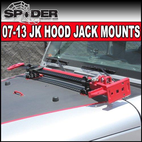 Jeep Wrangler 07-13 Jk Hood Hinge Hi-lift Farm Jack Mount