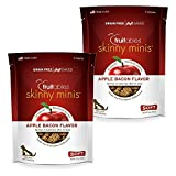 Fruitables Skinny Minis Grain Free Soft Dog Treats Apple Bacon Flavor (2 Pack) 5 oz Each For Sale