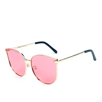 037dc1a85e LBY Flechas De Metal De Moda Ojos De Gato De Colores Mujeres Gafas De Sol  Polarizadas Gafas de Sol para Mujer (Color : Gold Frame/Pink Lens):  Amazon.es: ...