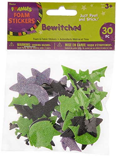 Darice Foamies Halloween Foam Stickers: Bewitched, 30 Pieces