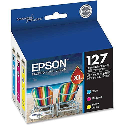 Epson T127520 Extra High Capacity Color Ink Cartridges, C/M/Y 3-Pack by Epson
