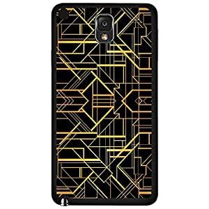 Black and Gold Pattern Hard Snap on Phone Case (Note 3 III) by lolosakes