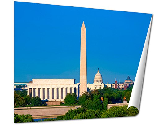 Ashley Giclee Fine Art Print, Washington Monument Capitol And Lincoln Memorial, 16x20, - Is Mall Where City Memorial
