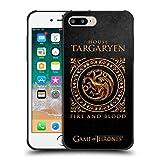 Official HBO Game of Thrones Targaryen Metallic Sigils Shockproof Matte Black Case for iPhone 7 Plus/iPhone 8 Plus