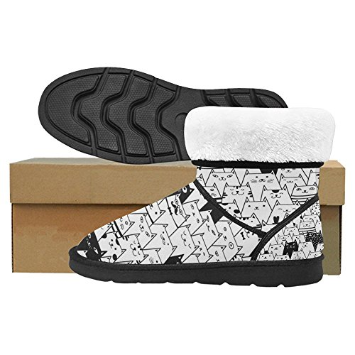 InterestPrint Womens Snow Boots Unique Designed Comfort Winter Boots Multi 17 xQZC6r