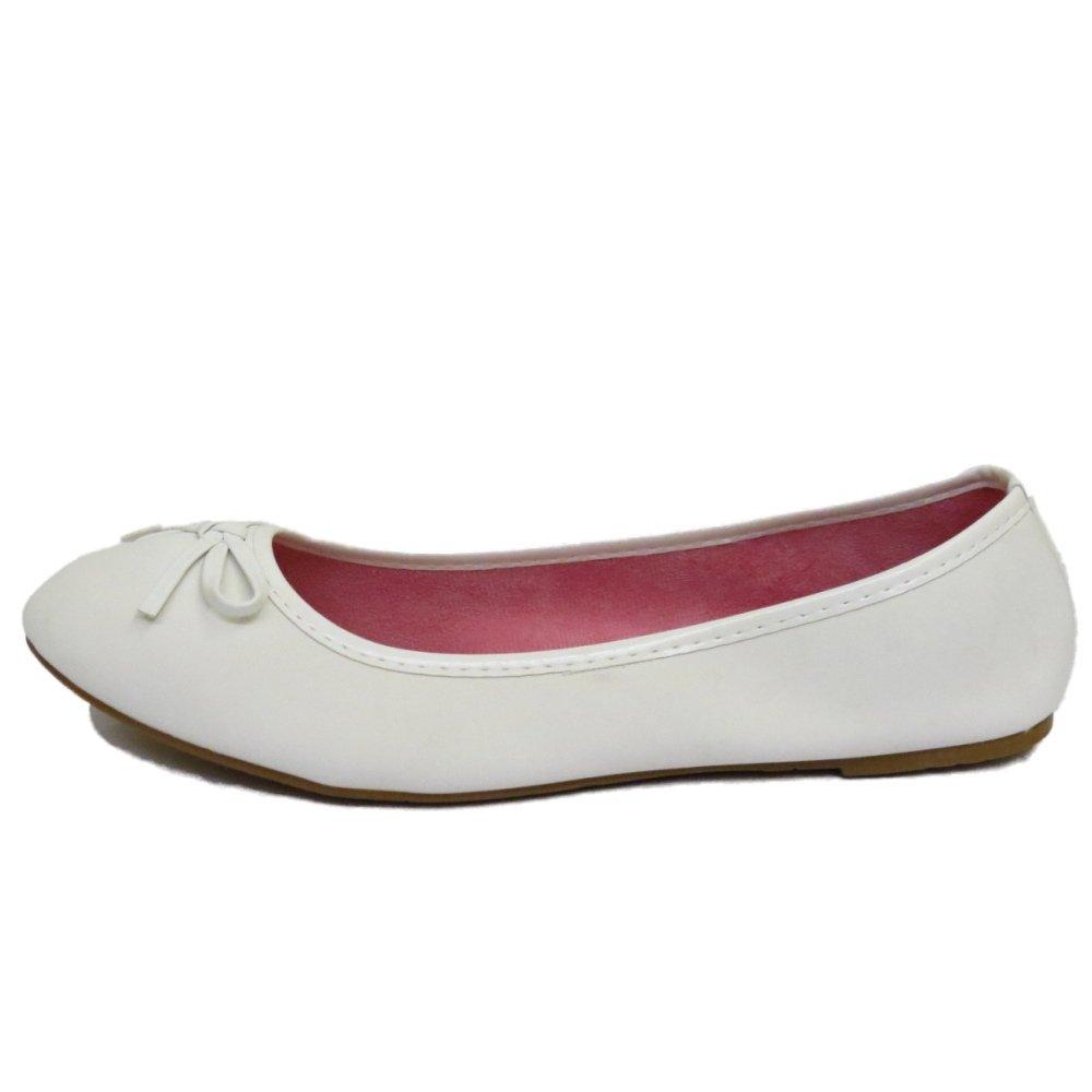 8919a630d431d Ladies Flat White Slip-On Shoes Dolly Comfy Ballet Ballerina Casual Pumps  UK 3-8: Amazon.co.uk: Shoes & Bags