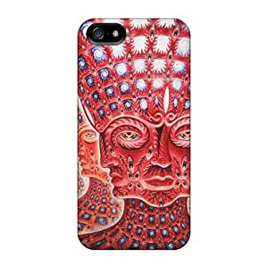 Hot New Psychedelic Faces Case Cover For Iphone 5/5s With Perfect Design