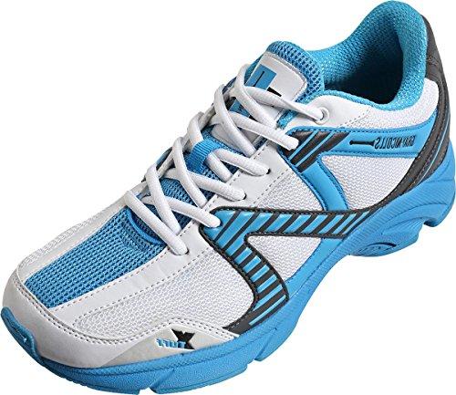 GRAY-NICOLLS Velocity Chaussures de Cricket de Sport Joueurs Senior Bleu Chaussures Spike pour Homme