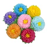 Mybbshower 11 Inch Tissue Paper Flower Backdrop DIY Nursery Wall Decor Pack of 7