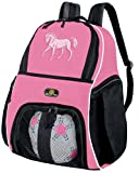 Broad Bay Girls Horse Soccer Ball Backpack or Womens Volleyball Bag Ball Carrier