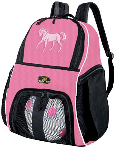 Broad Bay Girls Horse Soccer Ball Backpack or Womens Volleyball Bag Ball Carrier by Broad Bay