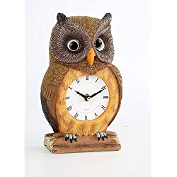 Owl Clock with Moving Eyes